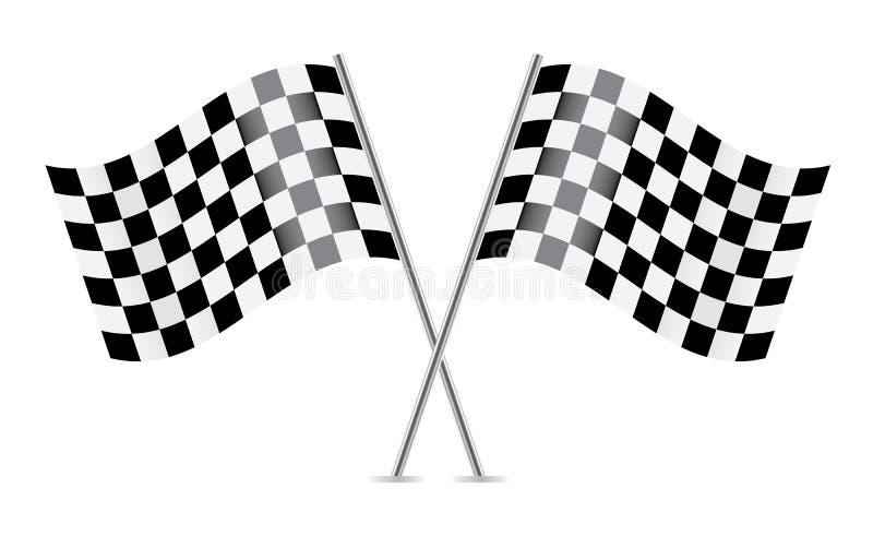 Zielflaggen (Flaggen laufend). vektor abbildung