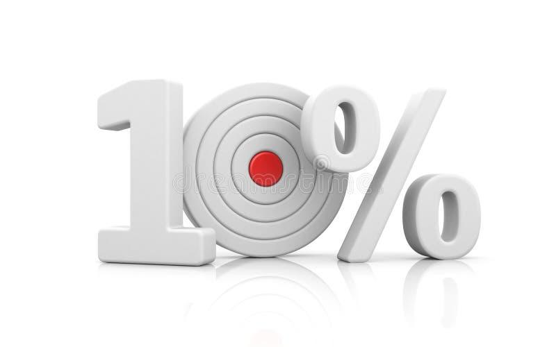 Zielform die Zahl 10 Prozent Verkaufsmetaphern stock abbildung