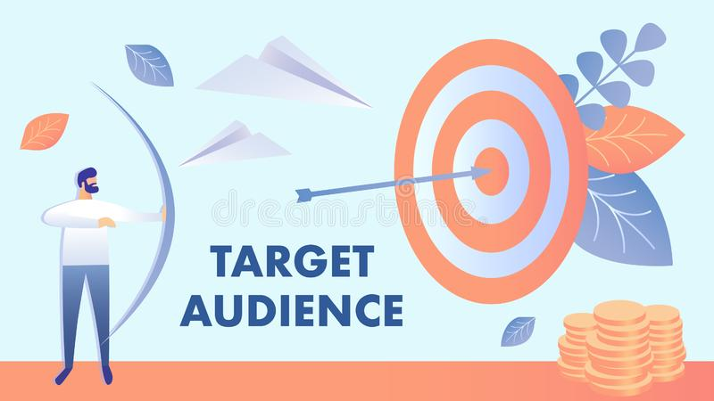Zielgruppenorientiertes Marketing, Publikums-Vektor-Illustration vektor abbildung
