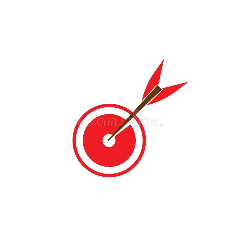 Zielikone und Symbolvektor ilustration Schablone stock abbildung