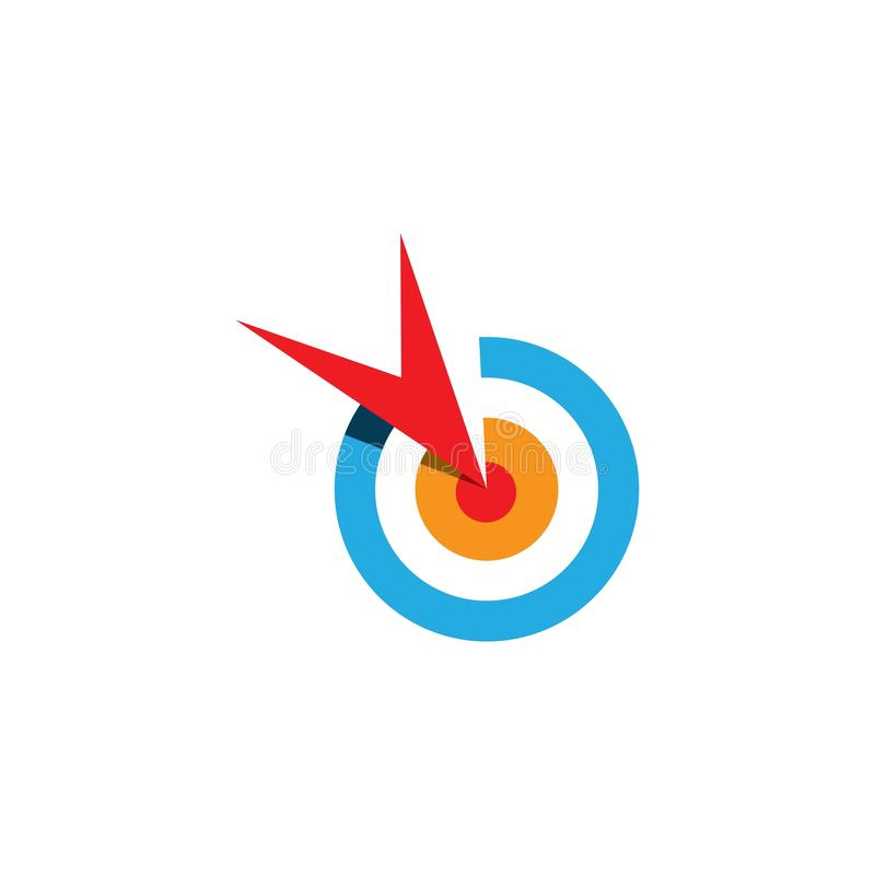 Zielikone und Symbolvektor ilustration Schablone vektor abbildung