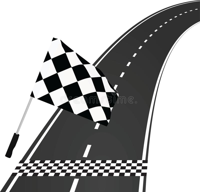 Ziellinie mit Flagge vektor abbildung