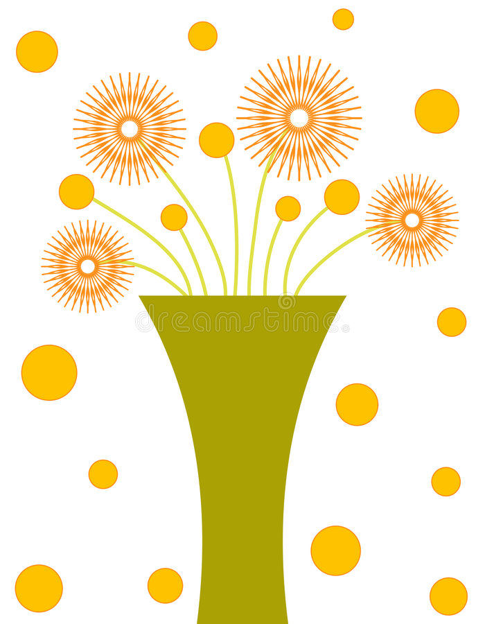 zieloną wazę ilustracja wektor