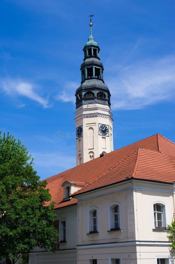 Zielona古拉-波兰的城镇厅 免版税库存照片