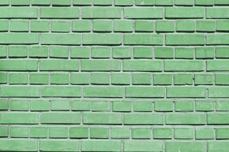 Zielona ściana z cegieł zamknięta w górę obraz royalty free