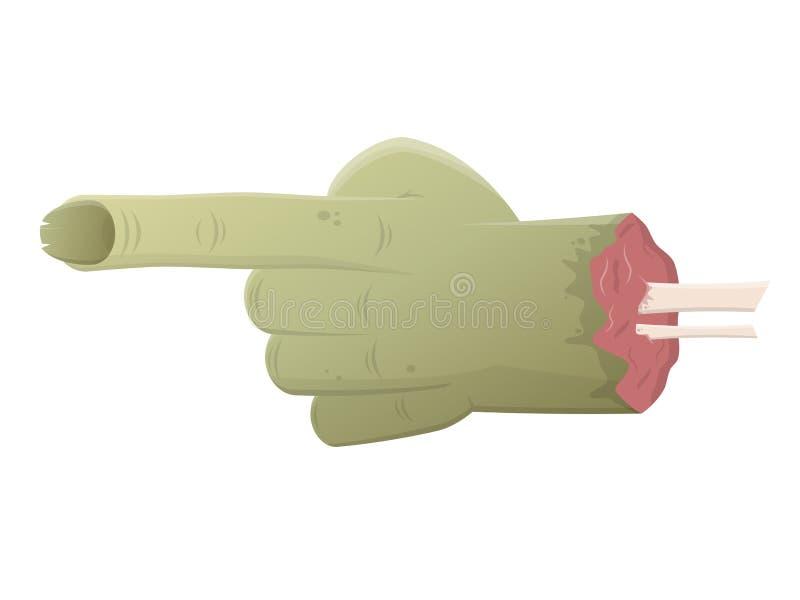 Zielona żywy trup ręka royalty ilustracja
