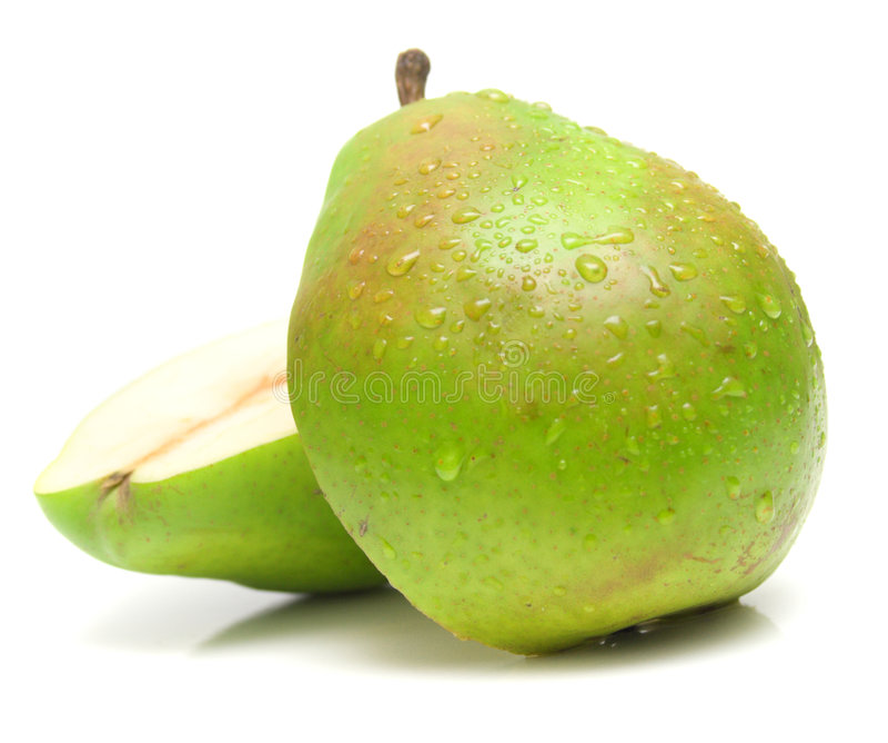 zielona 2 soczysta pear fotografia stock