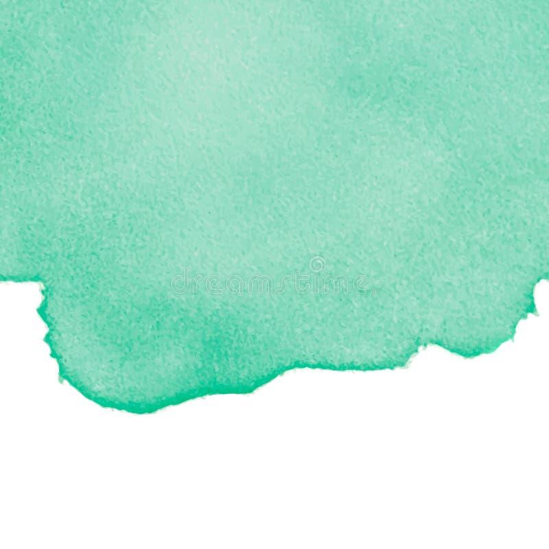 Zielona abstrakcjonistyczna akwarela odizolowywająca na białym tle ilustracja wektor