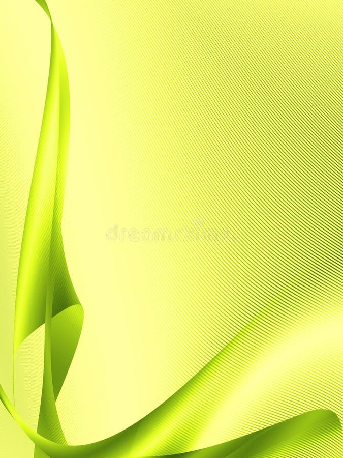Zielona abstrakcjonistyczna tło lampasa wzoru tekstura ilustracji