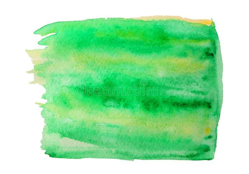 Zielona akwareli plama na tle zdjęcia stock