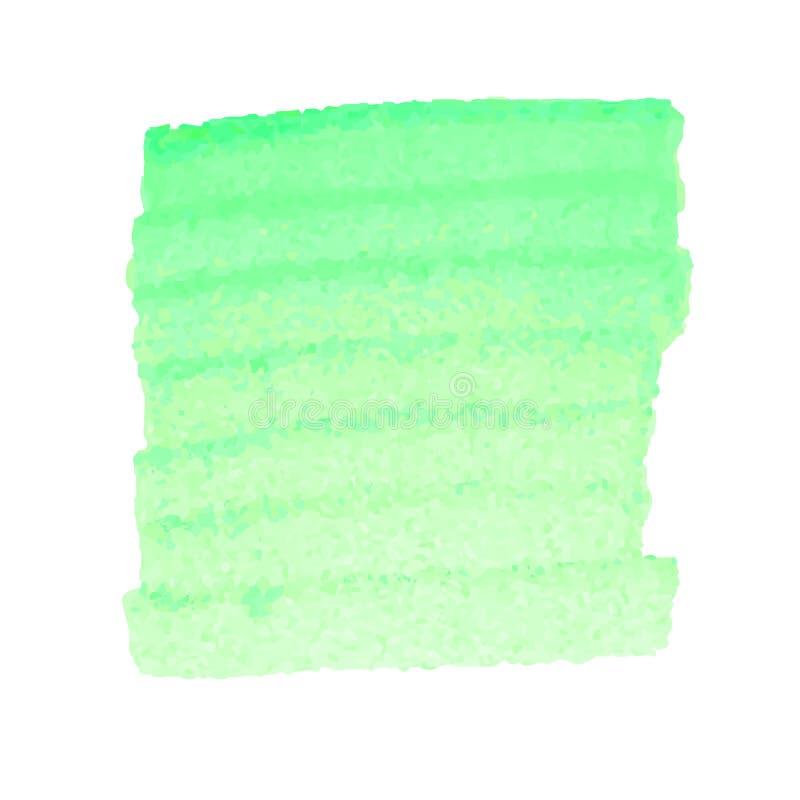 Zielona akwareli plama odizolowywająca na białym tle ilustracji