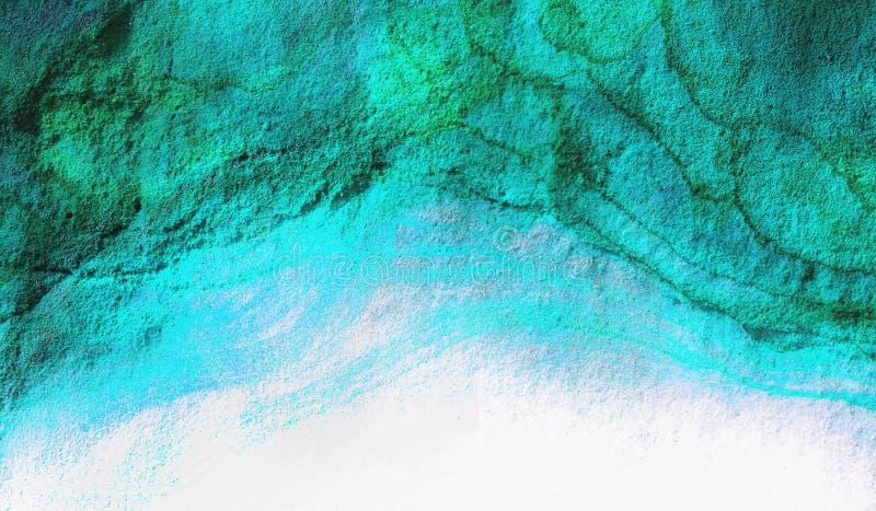 Zielona Błękitna Abstrakcjonistyczna tło tekstura obrazy royalty free