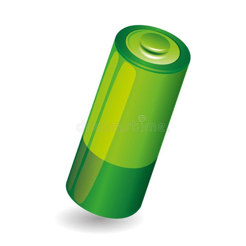 Zielona bateria. ilustracja wektor