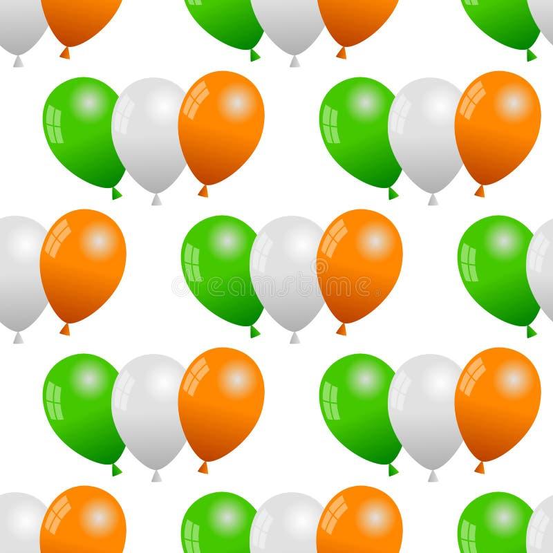 Zielona Biała pomarańcze Szybko się zwiększać Bezszwowego ilustracja wektor