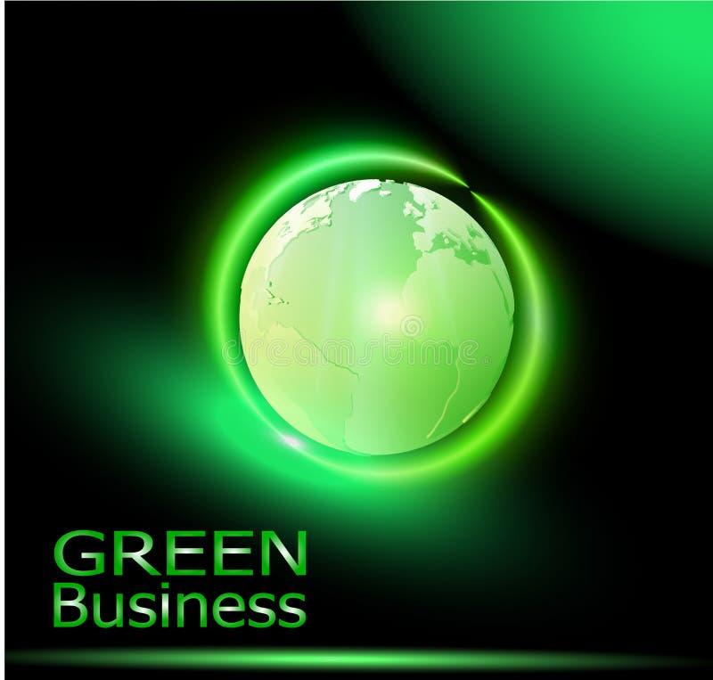 Zielona Biznesowa tła Vector_Green kula ziemska z Radient royalty ilustracja
