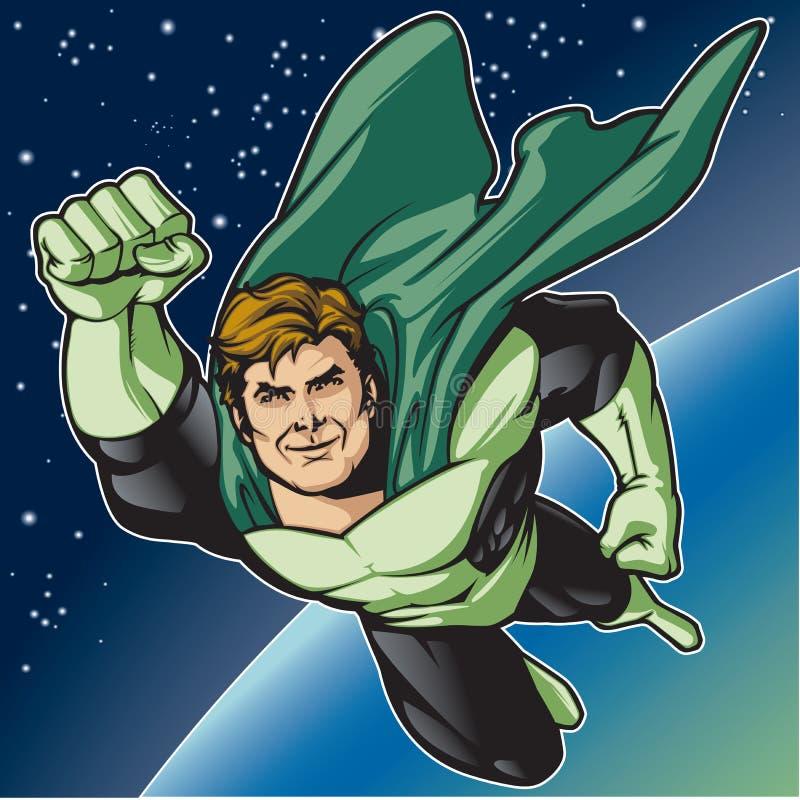 Zielona bohater komarnica ilustracji