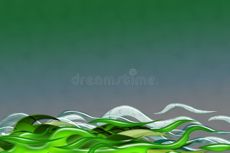 zielona burza ilustracja wektor