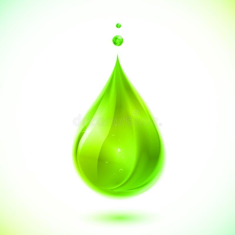 Zielona ciekła wektor kropla ilustracji