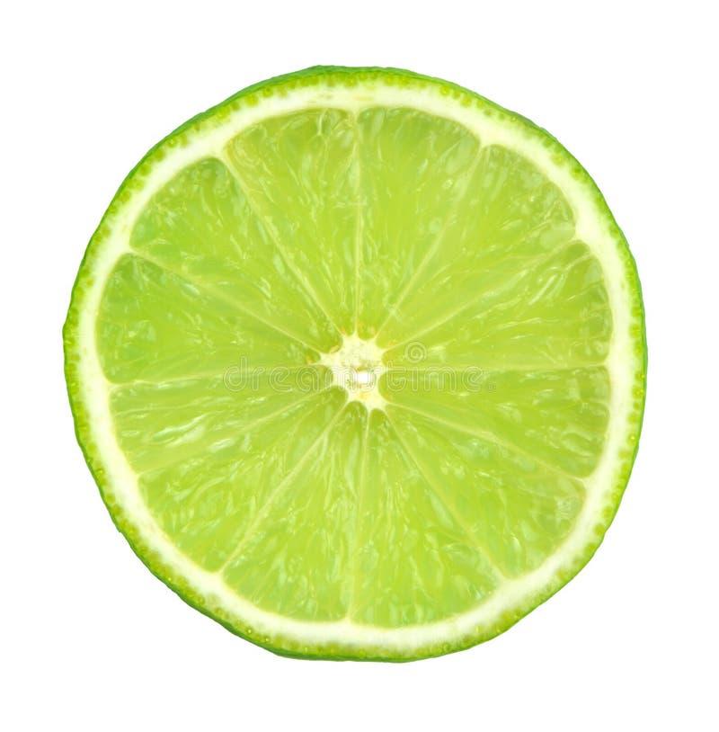 Zielona cytryna pokrajać zdjęcia stock