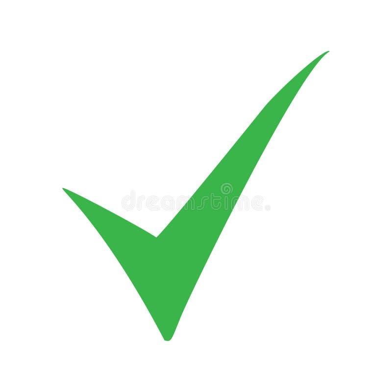 Zielona czek oceny ikona Kleszczowy symbol w zielonym kolorze również zwrócić corel ilustracji wektora ilustracja wektor