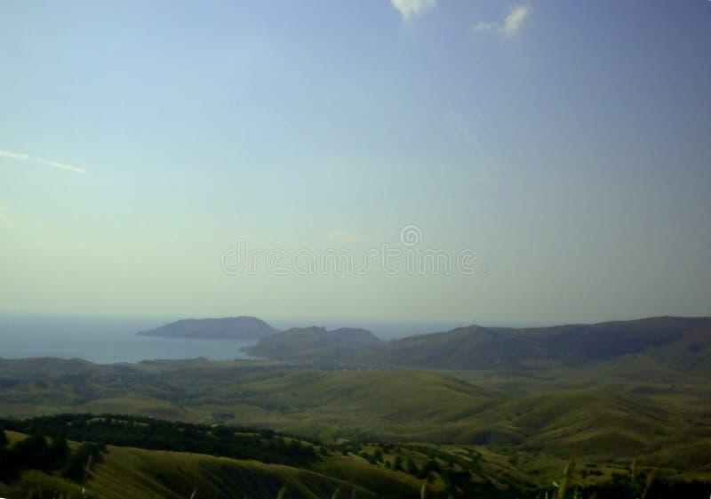 Zielona dolina w Crimea fotografia royalty free