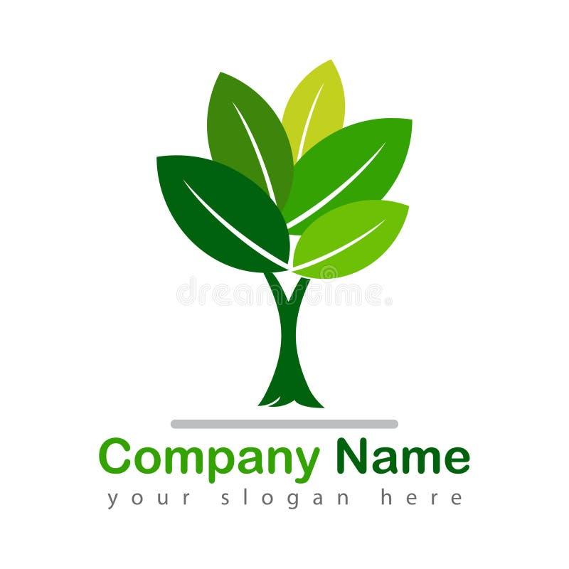 Zielona drzewna logotypu wektoru ilustracja royalty ilustracja