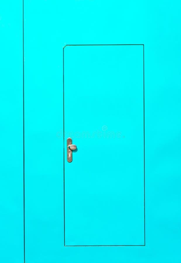 zielona drzwi stal obraz stock
