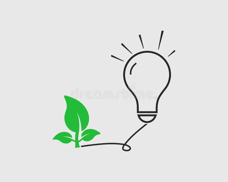Zielona eco energii ikona ilustracja wektor