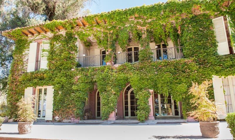 Zielona elegancka domowa fasada obraz stock