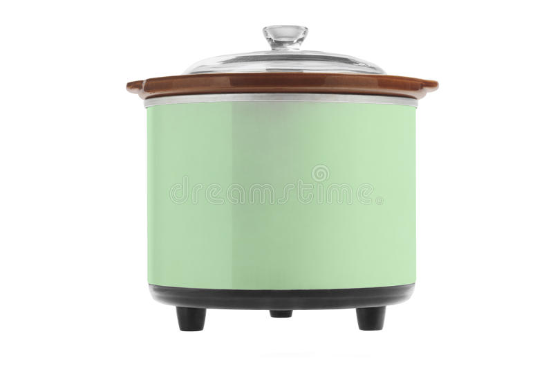 Zielona Elektryczna kuchenka obrazy royalty free