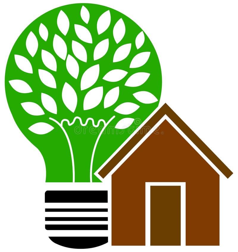 Zielona energia domu wektoru ilustracja ilustracja wektor
