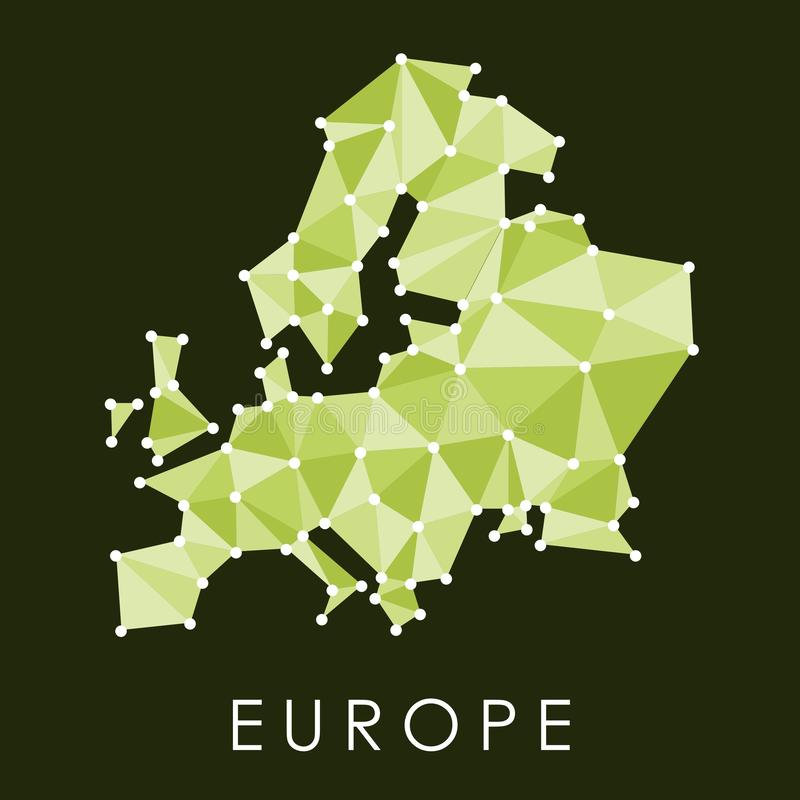 Zielona Europa mapa royalty ilustracja