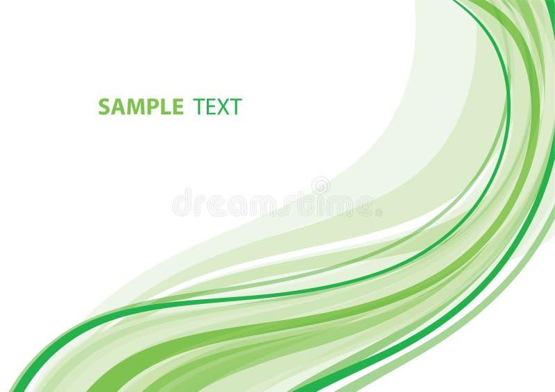 zielona fala ilustracja wektor