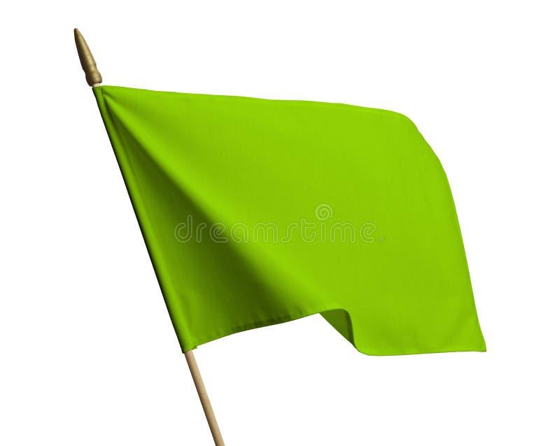 Zielona falowanie flaga zdjęcia stock