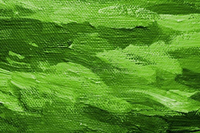zielona farba olejna tło ilustracja wektor