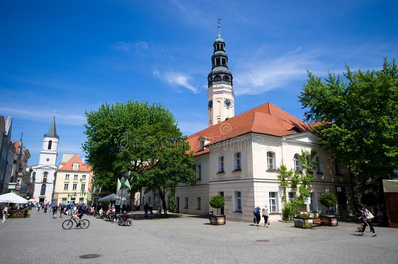 Zielona Gora in Poland. Zielona Gora, Poland - May 19, 2019: old town of the city. The largest city in Lubuskie Voivodeship, in western Poland royalty free stock image