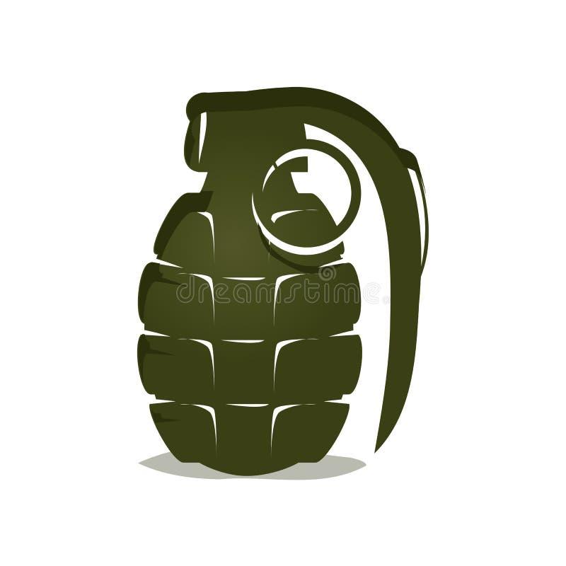 Zielona granat ikona ilustracja wektor