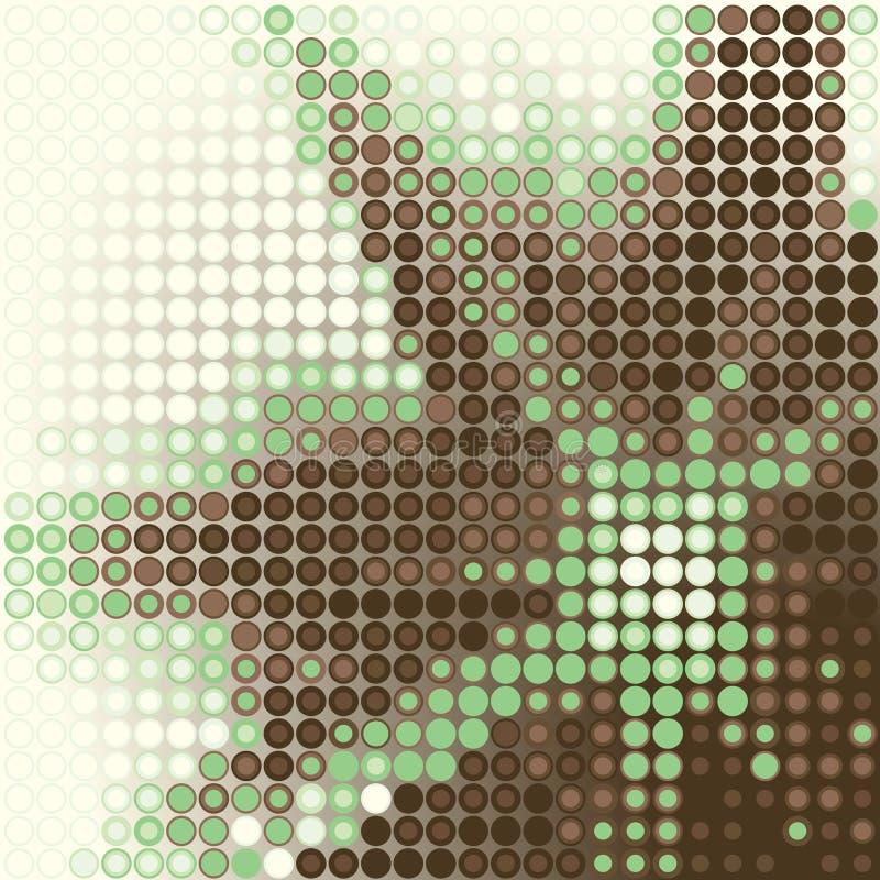 zielona gwiazda royalty ilustracja