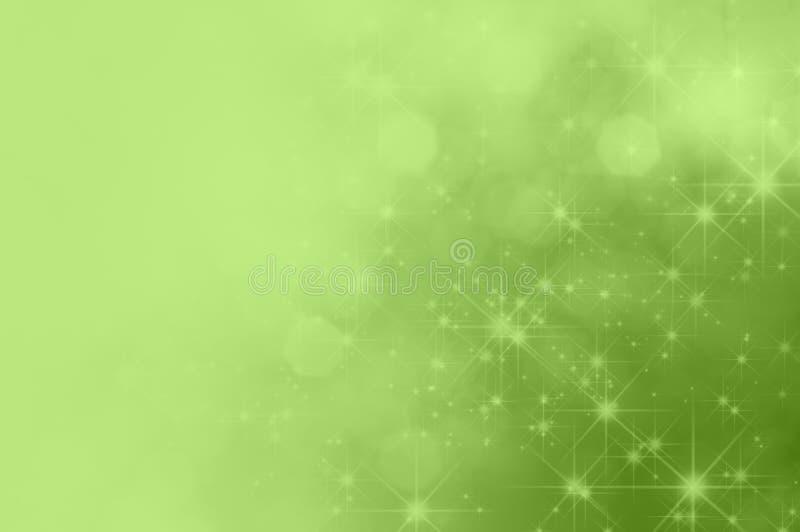 Zielona gwiazda Blaknie tło ilustracji
