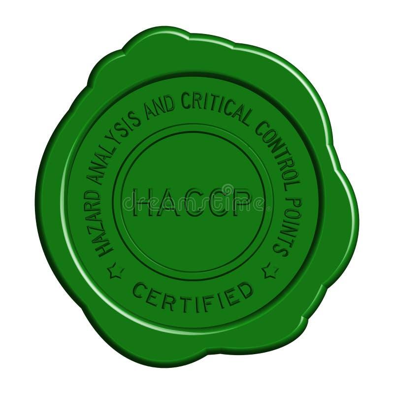 Zielona HACCP wosku round foka na białym tle royalty ilustracja