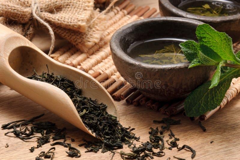 zielona herbata obraz royalty free