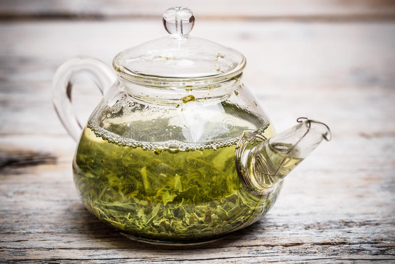 Download Zielona herbata obraz stock. Obraz złożonej z teapot - 28958821