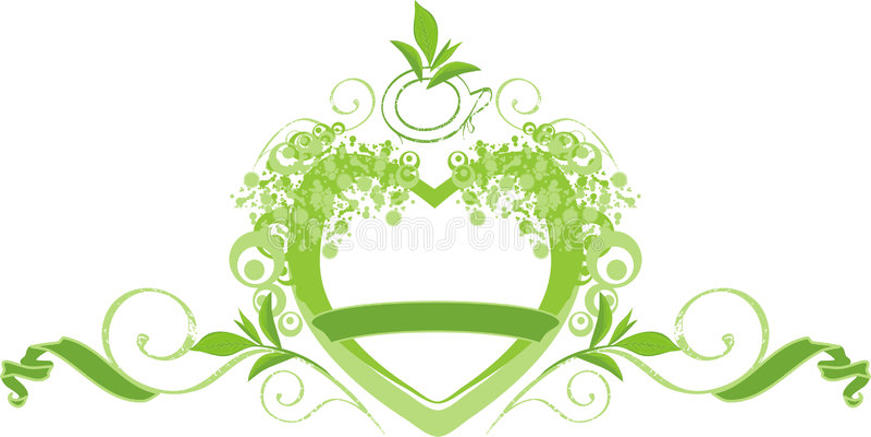 zielona herbata royalty ilustracja