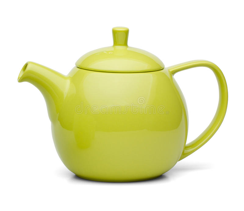Zielona herbata garnek zdjęcie stock