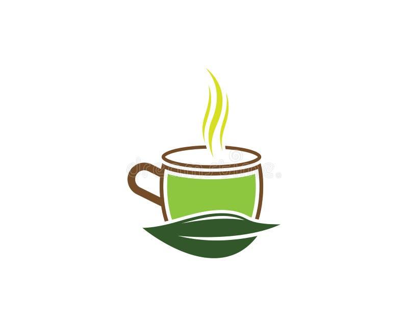 Zielona herbata logo ilustracja ilustracji