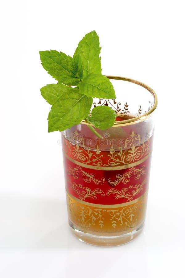 zielona herbata spearmint obraz royalty free