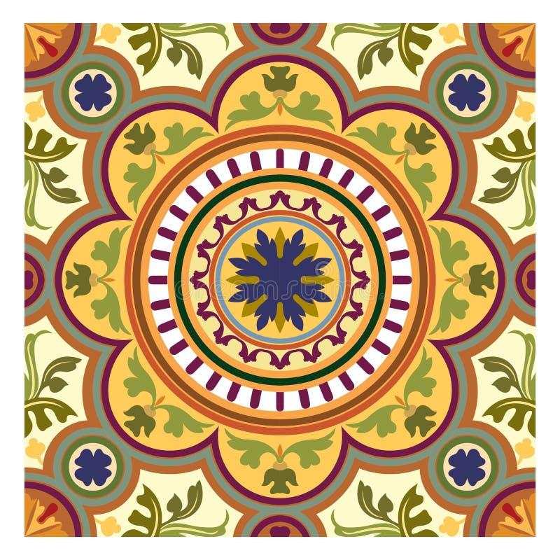 Zielona i żółta liść tekstura, bezszwowej jesieni kwiecisty bakcground dla tkaniny ilustracji