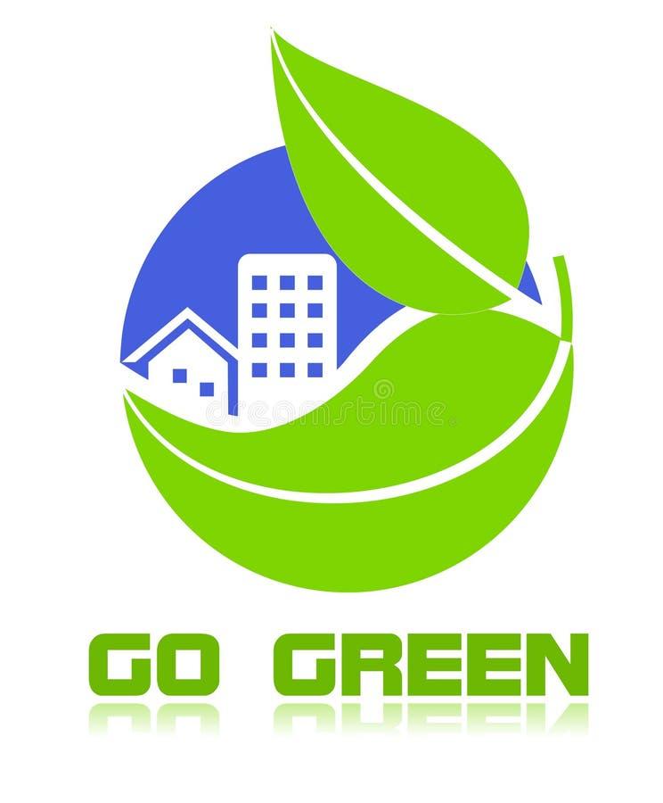 zielona idzie ikona ilustracja wektor