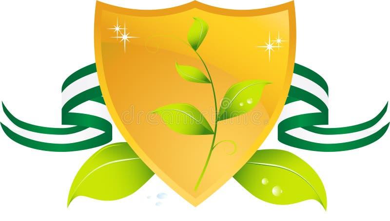 zielona idzie osłona ilustracji