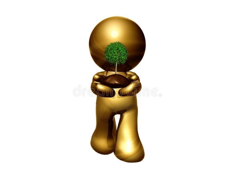 zielona ikona pozwalał s save royalty ilustracja